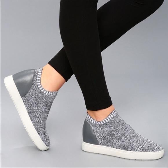 Sly Gray Knit Sneaker 7m